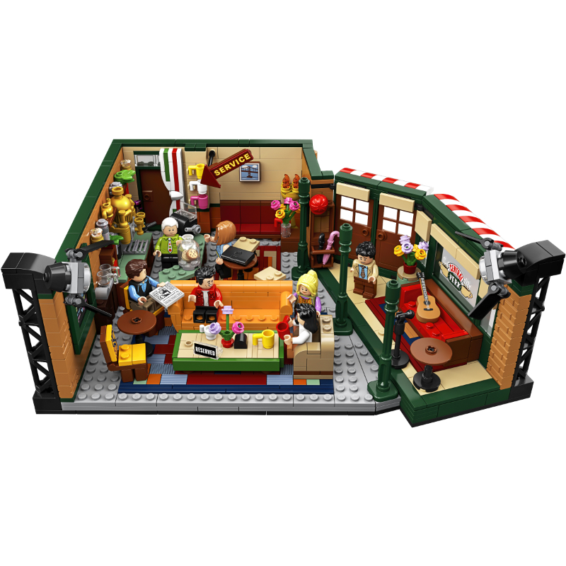 Classic 1228pcs TV American Drama Friends Central Perk Cafe Fit Lepining Friends Model Building Block Bricks <font><b>21319</b></font> image