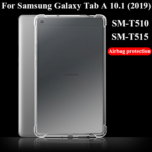 Tablet Case For Samsung Galaxy Tab A 10.1' 2019 Silicone Soft Shell TPU Airbag Cover Transparent Protection Bag For SM-T510/T515