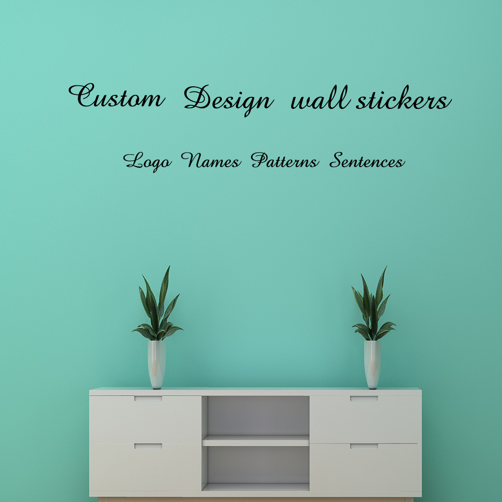 Custom wall stickers custom name/Logo/Sentences/Patterns PVC Vinyl
