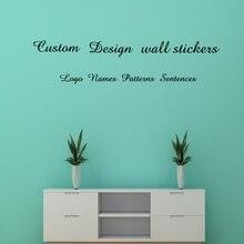 Custom wall stickers custom name/Logo/Sentences/Patterns PVC Vinyl wall stickers цена