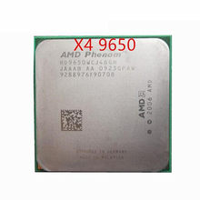 Бесплатная доставка, четырехъядерный процессор AMD Phenom X4 9650 (HD9650WCJ4BGH), 2,3 ГГц, Разъем AM2 +