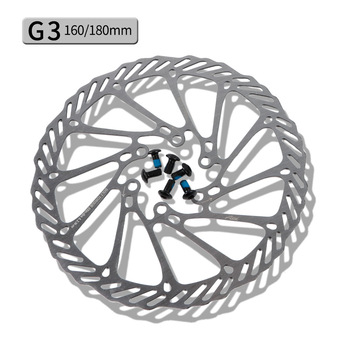 G3 HSI Bike Brake Disc Brake Block Lining Rotors Mtb Bike CNC Disc 160/180mm With 6Bolts Disc Bike Parts image