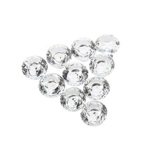 10pcs 30mm Diamond Crystal Glass Door Drawer Cabinet Furniture Handle Knob Screw(China)
