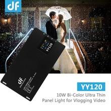 цена на DF DIGITALFOTO YY120 10W Bi-Color LED Video Light Ultra Thin Dimmable Panel Light for Vlogging Video Wedding Product Photography
