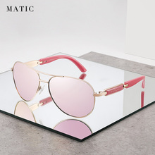 FENCHI Women Polarized Sunglasses Mirror Pink Lenses Summer Ladies Sun Glasses Retro Luxury Brand Design For Driver UV400 Oculos