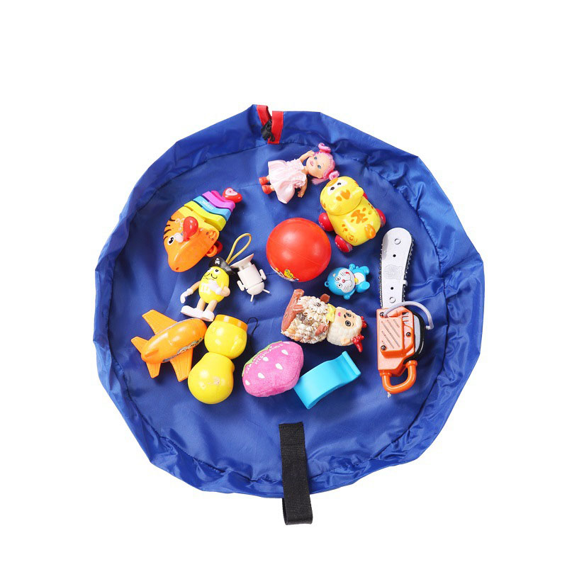 Portable Kids Toy Storage Bag and Play Mat Folding Drawstring Toys Pouch Home Organizer