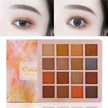 16 Color Matte Eyeshadow Pallete Makeup Glitter Shimmer Diamond Eye Shadow Powder Pigment Nude Cosmetics Waterproof Easy To Wear