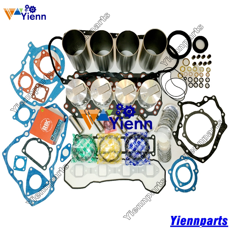 For Mitsubishi S4Q S4Q2 Piston Piston Ring Cylinder Liner Gasket Set Bearing Set Fit Mitsubishi S4Q S4Q2 Diesel Engine