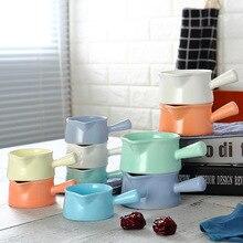 Manufacturers Direct Selling Northern European-Style Ceramic Small Milk Pot Milk Scoop nai zhong CHILDREN'S Tableware Ceramic Mi