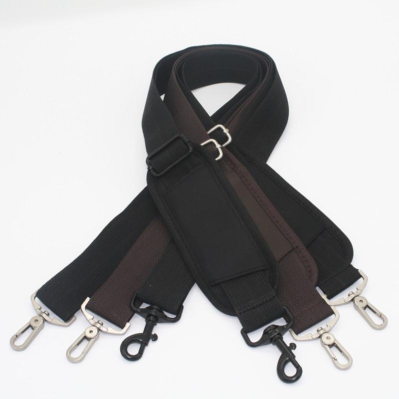Bag Straps DIY Bag Accessories Parts Replacement Shoulder Belts Handbag Strap Long Bands With Pads Handle Silver Buckle KZ0395