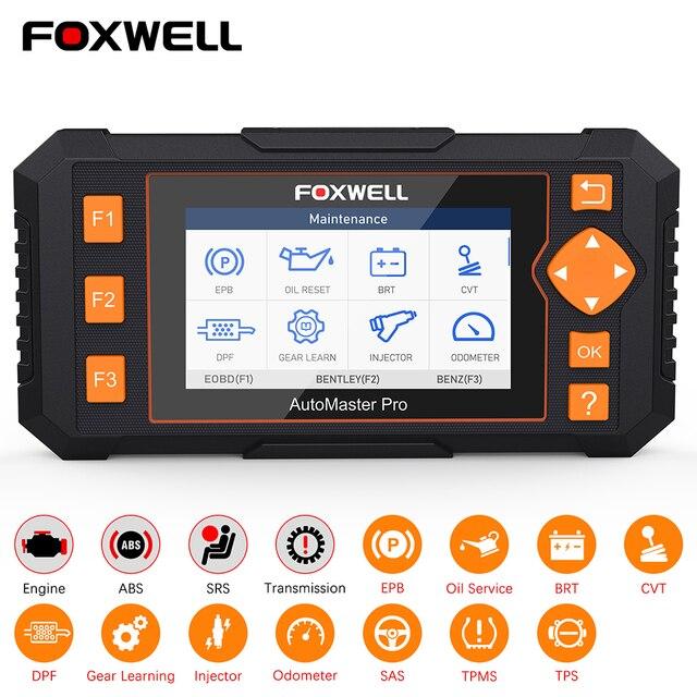$ US $247.74 Foxwell NT634 OBD OBD2 Scanner Engine ABS SRS Transmission Scan Tool 11 Reset Functions OBD 2 Code Reader Car Diagnostic Tool