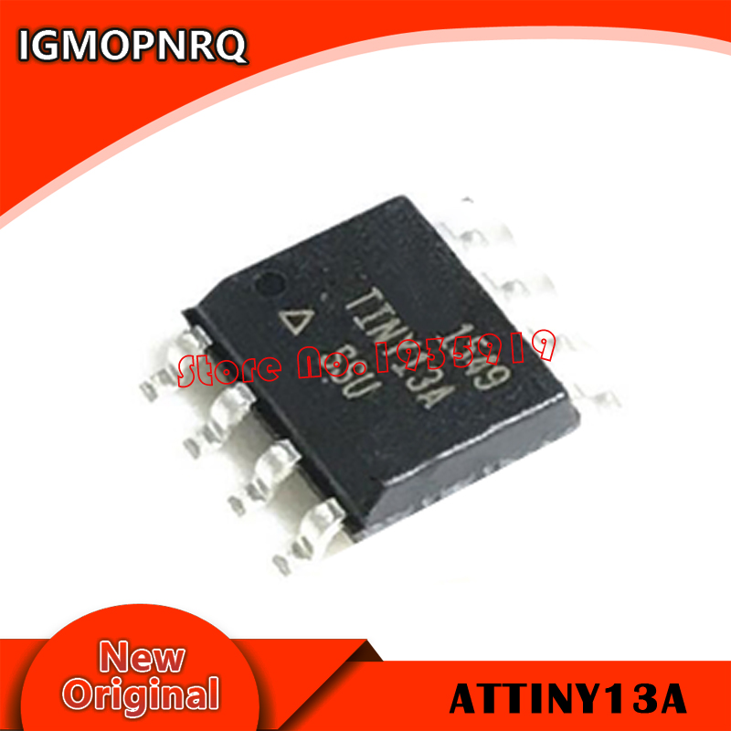 5piece/LOT ATTINY13 ATTINY13A TINY13A MCU AVR 1K FLASH 20MHZ  IC ATTINY13A-SSU SOP-8 New Original