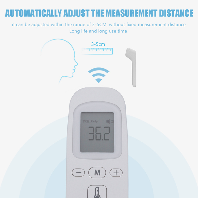 ZS-T1 Non-contact IR Infrared Thermometer Digital Forehead LCD Temperature