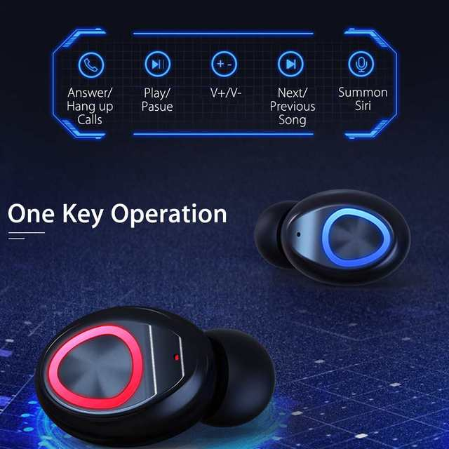 TWS 4000mAh v5.0 bluetooth Stereo Wireless Earphones Waterproof Earbuds With 3 LED Display Sport Wireless Headsets 4