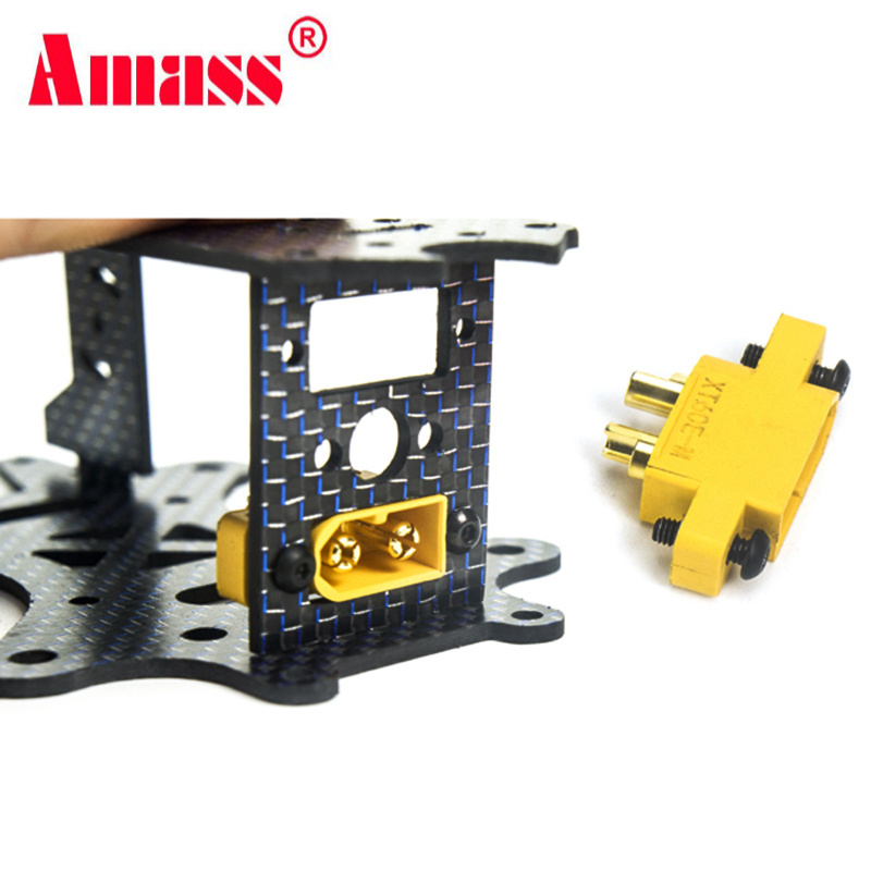 10PCS AMASS XT60E-M Mountable XT60 Male Plug For RC Drone FPV Racing Fixed Board DIY Spare Part 4.23g