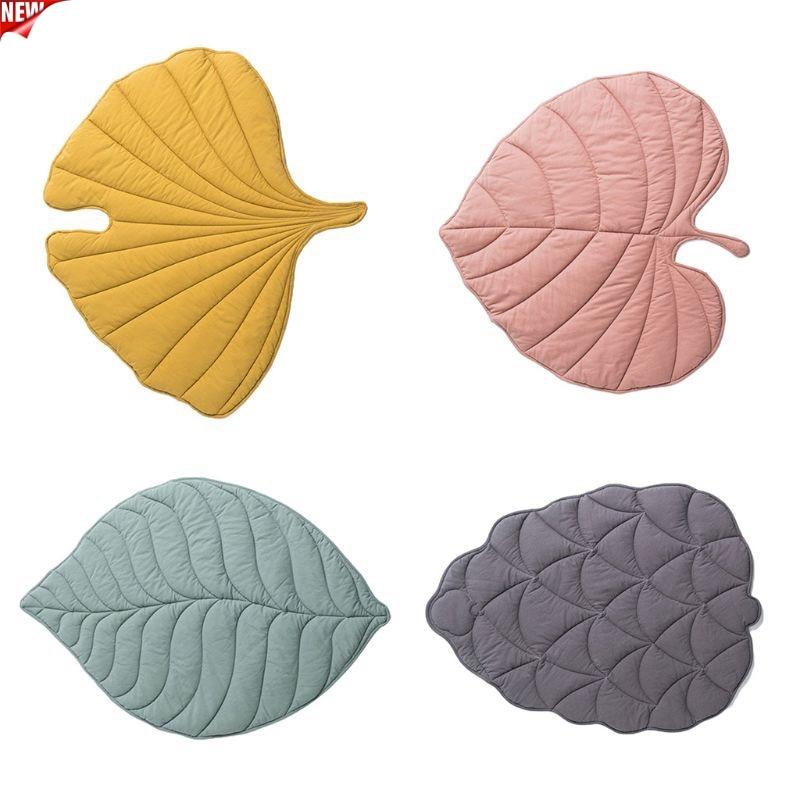 Newborn Baby Cotton Carpet Blanket Leaf Shape Crawling Play Mat Rug Room Decor