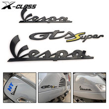 Motocicleta 3d adesivos decorativos emblema adesivos kit decalque para piaggio vespa gts gtv 250 300 sprint primavera 150 lx lxv s 125