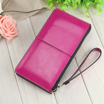 Fashion Capacious Leather Women's Wallet Bags and Wallets Hot Promotions New Arrivals Women's Wallets Color: Rose