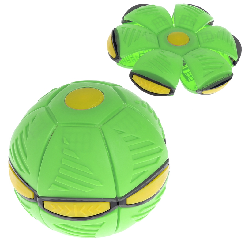 Flying UFO Flat Throw Disc Ball With LED Light Toy Kid Outdoor Garden Beach Game Q6PD