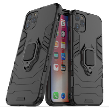 Luxury Armor Soft Shockproof Case for iphone 11 Pro Max 12 mimi XR XS X 8 7 6 Plus 5S SE 5C Silicone Car Holder Ring phone cover image