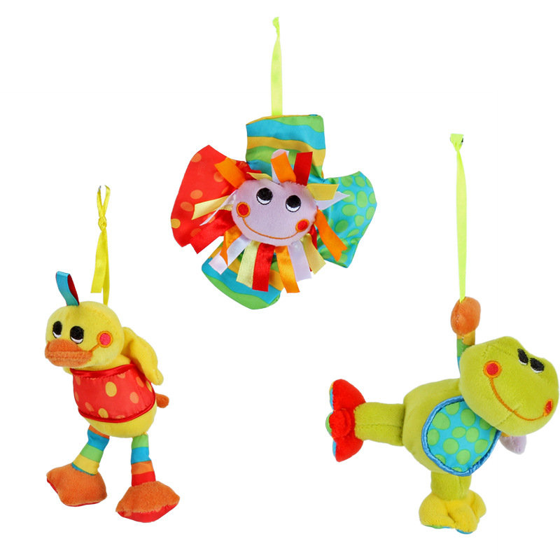 New Baby Toys 0-24 Months Crib Mobile Kids Rattle Cartoon Animal Sun Flower Doll Baby Stroller Toy Bed Pendant Bell Newborn Toy