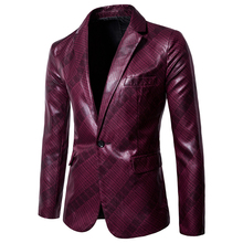 2019 new fashion Mens casual suit jacket brand blazer slim fit masculino terno Glossy printed Suit EU size 3XL