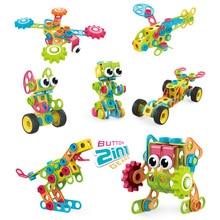 Drilling Toys Screw Building-Bricks Educational-Toys Kids Children 3D Mosaic for DIY
