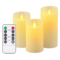 Remote Control LED Electronic Candle Light with Flickering Flame AAA Battery Operated led Candle Light Lamp for Party Home Decor