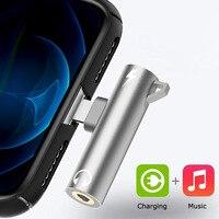 Suntaiho Adaptador de Audio y cargador para auriculares, 2 en 1, conector Jack de 3,5mm para iPhone 12, 11, Xiaomi Huawei Samsung