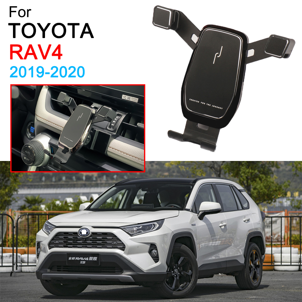 Gravity Car Phone Holder Dedicated Air Vent Mount Clip Clamp Mobile Phone Holder For Toyota RAV4 Accessories 2019 2020