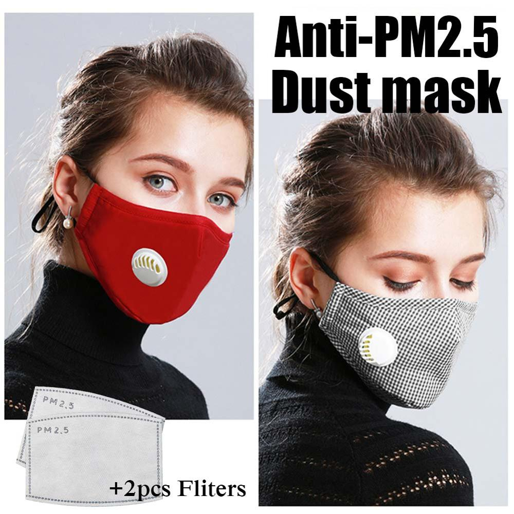 Unisex Anti haze Mouth Masks Cotton PM2.5 Mask with Valve 