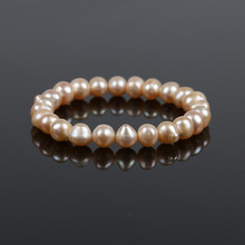 2019 New Pearl Bracelet Tricolor Natural Freshwater Charm Bangle Women Fine Jewelry Party Anniversary Gift