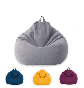 Sofa-Cover New Lazy BeanBag Sofas Cover without Filler Lounger Seat Bean Bag Puff asiento Couch Tatami Chairs Covers outdoor and indoor bean bag buggle ups home furniture patio beach chair camping beanbag sofa seat cover only no filler
