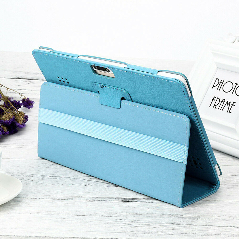 Universal Protection Folio Leather Case For 10 10.1 Inch Android Tablet PC Foldable Tablet Cases Protective Cover