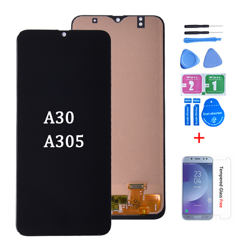<font><b>LCD</b></font> For <font><b>SAMSUNG</b></font> GALAXY <font><b>A30</b></font> A305DS A305FN A305G A305GN A305YN <font><b>LCD</b></font> Dispaly with Touch <font><b>Screen</b></font> Digitizer Assembly free shipping image
