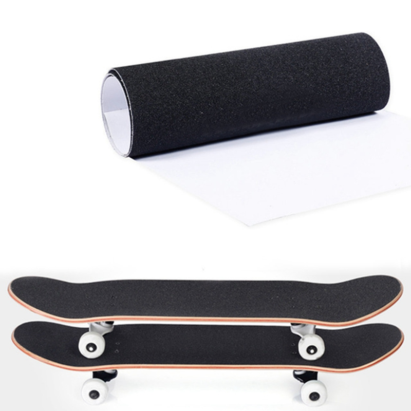 83*23cm Professional Skateboard Deck Sandpaper Grip Tape Skating Board Longboard Sandpaper Griptape Skating Board Sticker Black