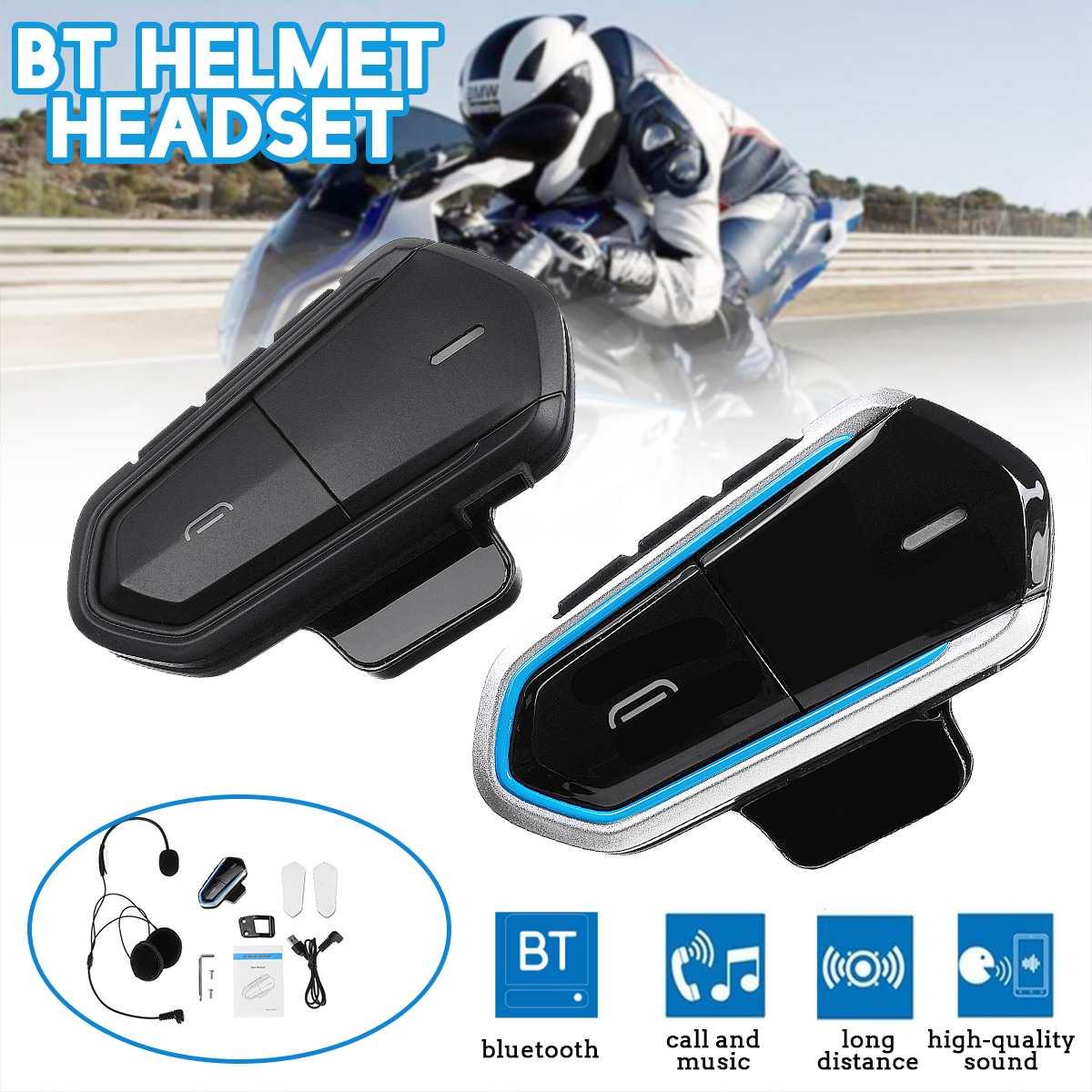 Motorcycle Helmet Intercom Helmet For Motorcycle Helmet Interphone Motorcycle Intercom Headphones FM Radio Blue/Black