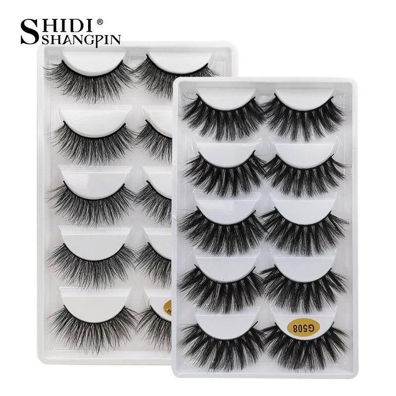 10 Boxes Eyelashes Wholesale False Eyelashes Makeup Full Lashes Natural Mink Eyelashes Wholesale 3d Mink Lashes Faux Cils
