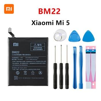 Xiao mi 100% Orginal BM22 3000mAh Battery For Xiaomi Mi 5 Mi5 M5 BM22 High Quality Phone Replacement Batteries +Tools original xiaomi bm22 high capacity phone battery for xiaomi 5 mi5 m5 prime 2910mah