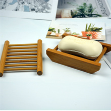 Wooden Natural Bathroom Soap Dish Storage Box Bamboo Soap Dishes Tray Holder Storage Soap Rack Plate Box Container Portable