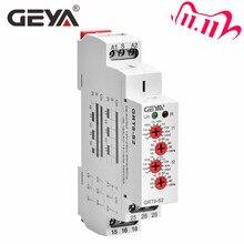 شحن مجاني GEYA GRT8 S غير المتماثلة دورة الموقت تتابع SPDT 220 فولت 16A التيار المتناوب/DC12V 240V تكرار الإلكترونية