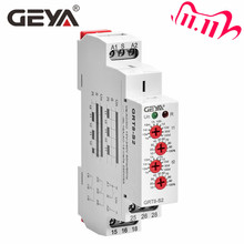 משלוח חינם GEYA GRT8 S אסימטרית מחזור טיימר ממסר SPDT 220V 16A AC/DC12V 240V אלקטרוני חוזר ממסר