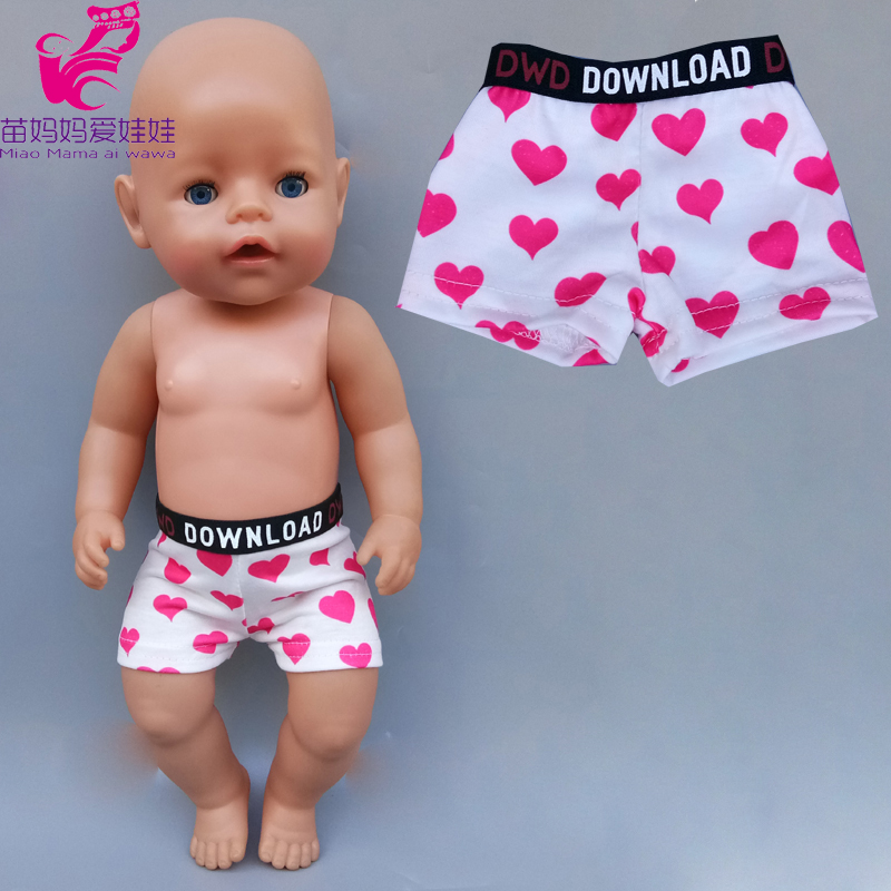 43cm Baby New Born Doll Cotton Short Pants 18 Inch Girl Boy Doll Under Pants Doll Clothes