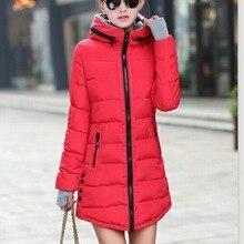 Female Long Parka Winter Jacket Women Down Cotton Jackets Ladies Coats Woman Win