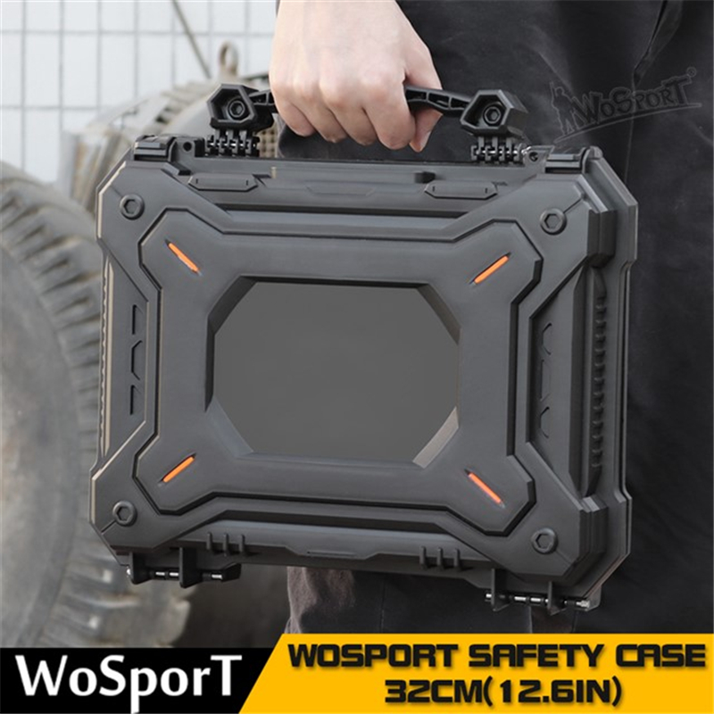 Tactical Gun Pistol Camera Protective Case Safety Case with Foam Padded+Safety Lock Dustproof Waterproof Hard Shell Pistol Box