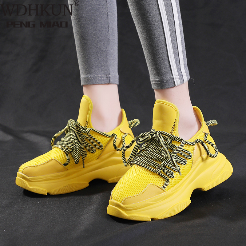 Fashion Women Lightweight Sneakers Sports Shoes  Women Shoes Breathable Comfort Platform Shoes For Ladies Basket Femme Trainers