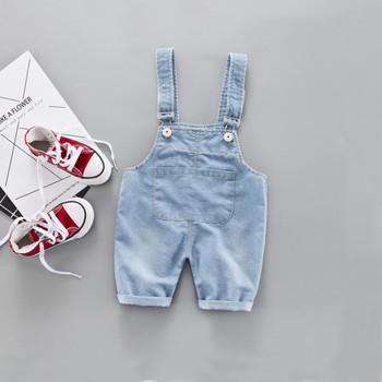 Maluch dzieci Baby Boy dziewczyna jednokolorowe spodnie jeansowe spodnie na szelkach Jean Clotheso Kid Overralls Jeans kombinezon dresowy Romper Playsuit tanie i dobre opinie ARLONEET W wieku 0-6m 7-12m 13-24m 25-36m CN (pochodzenie) Poliester Unisex Szorty kid overalls Pasuje prawda na wymiar weź swój normalny rozmiar
