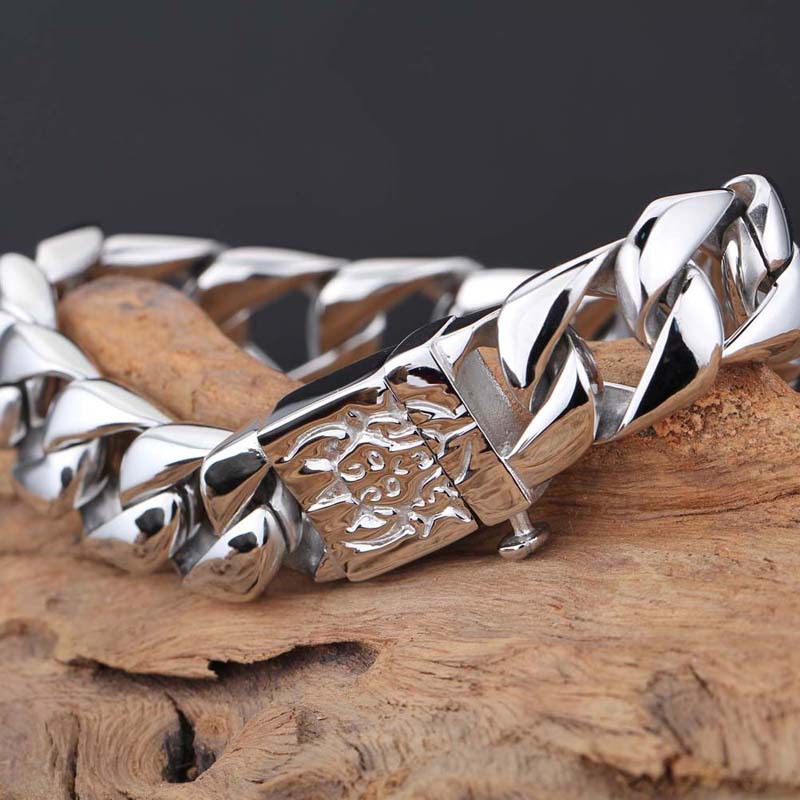 Fashion-personality-Titanium-steel-bracelet-Men-s-bare-silver-and-gold-stainless-steel-tide-men-jewelry (5)