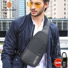 Bolso cruzado de viaje a la moda Casual ARCTIC HUNTER para hombre, bolso para el pecho impermeable, bolso de hombro para hombre