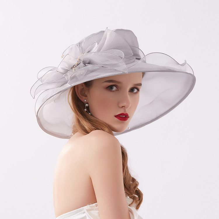 Mingli Tengda Vintage Mesh Visor Bride Rose Red Organza Protection Lady Hat Wedding Bridal Accessories Party Cap Chapeau Mariage